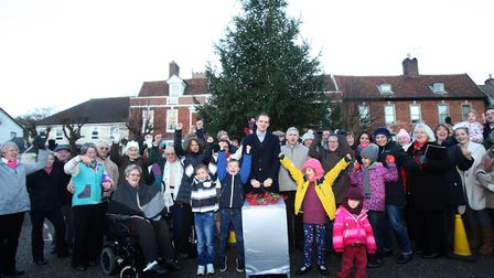 Dan Poulter MP, pictured switching on Framlingham's Christmas lights last year, will be judging the