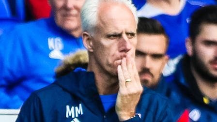Ipswich Town manager Mick McCarthy ponders on the touch-line during the recent 3-1 home defeat to Br