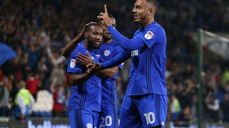 Cardiff City's Kenneth Zohore is attracting Premier League interest. Photo: PA