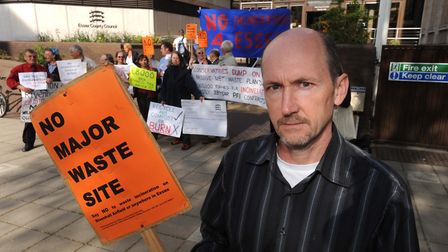Councillor James Abbott was among demonstrators who made their views known in a peaceful demostratio