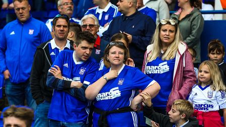 Frustration for Town fans during the recent 3-1 home defeat to Bristol City. Photo: Steve Waller.