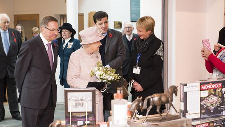 Her Majesty The Queen officially opened the National Heritage Centre for Horseracing and Sporting Ar