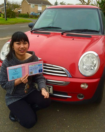 Tess Jewson with her car and disability badge. Photo: HPA UK, contributed