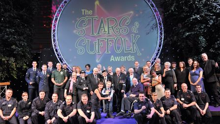 The Stars of Suffolk award winners in 2015. Picture: SARAH LUCY BROWN