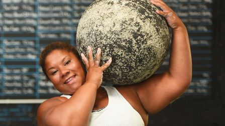 Andrea Thompson has won Britain's Strongest Woman for two straight years. Picture: GREGG BROWN