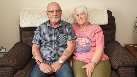 """Sue and Dave Mallion, of Woolpit, have spoken of the """"traumatic"""" experience of being caught up in th"""