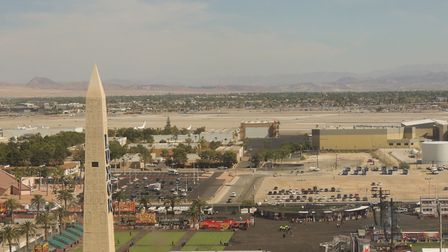The view from Luxor Hotel in Las Vegas the day before the mass shooting. Picture: DAVE MALLION
