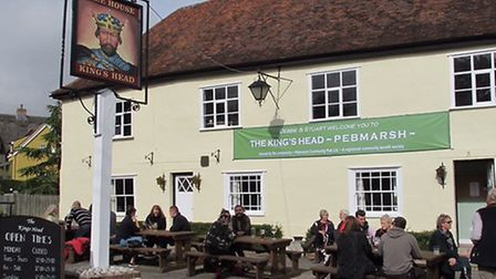 The Pebmarsh pub, which has reopened after villagers raised more than £300,000 to buy and restore it