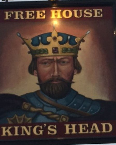The new sign was unveiled on Saturday. Picture: KING'S HEAD