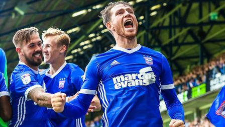 Joe Garner is one of several summer signings who have livened up Ipswich Town this season. Photo: St