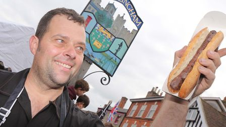 Paul Ward at the Great Sausage Festival on SundayPICTURE : SEANA HUGHES