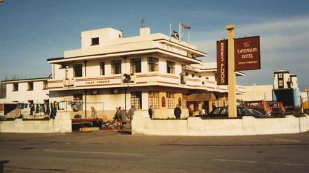 Cavendish Hotel, Felixstowe - two days before the demolition work started