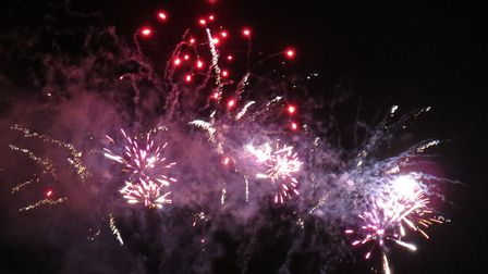 One of Framlingham's previous fireworks displays. Picture: ARCHANT LIBRARY
