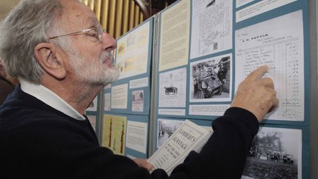 David Ransom takes a close look at one of the artefacts. Picture:NIGE BROWN.