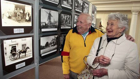 Beatrix McLennan and Paul Rogers learned more about Framlingham's history. Picture: NIGE BROWN.