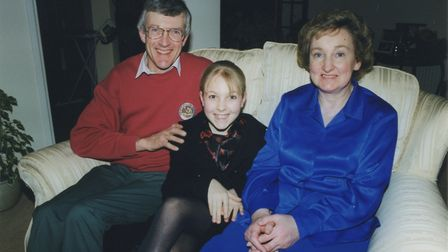 Christina and her parents, who have been great inspirations. Photo: Contributed