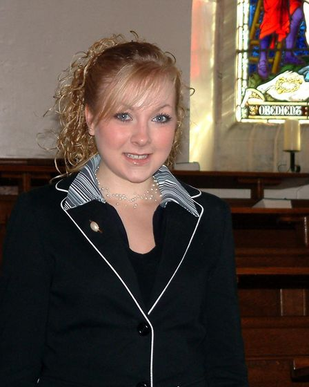 A teenage Christina when she was competing in the BBC Radio 2 Young Chorister of the Year competitio