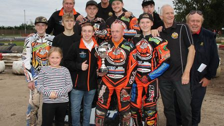 The Mildenhall Fen Tigers squad which won the National Trophy. Picture: DEREK LEADER