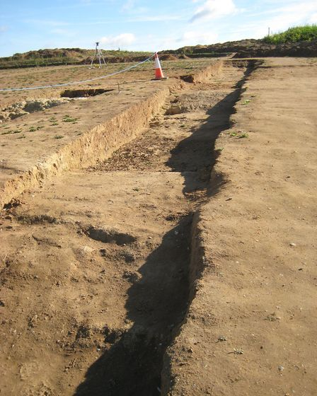 One of the opened trenches. Picture: TOM POTTER