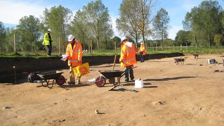 Archaeological excavations are being carried out from Bawdsey to Bramford, as part of work to instal
