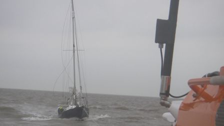 Aldeburgh's all-weather lifeboat, Freddie Cooper, towed a 26ft yacht to shore after it suffered engi