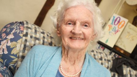 Dorothy Drinkwater is celebrating her 100th Birthday. Picture: GREGG BROWN
