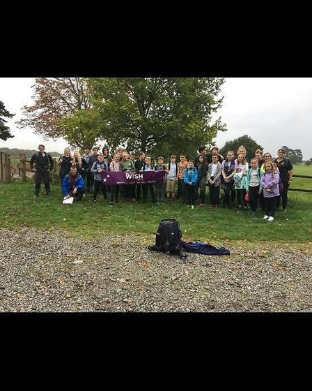 The students from Melford College, at King Edward VI School, who carried out the sponsored walk from