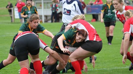 Natalie Palmer surges through for the Bury Foxes. Picture: SHAWN PEARCE