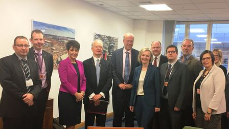 MPs, inlcluding Jo Churchill from Bury St Edmunds, and other officials pressed the case for rail imp