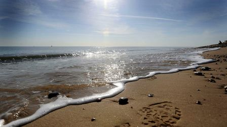 A sunny Aldeburgh beach. Highs of 23C could be expected over the next week, Met Office reveals. Pict