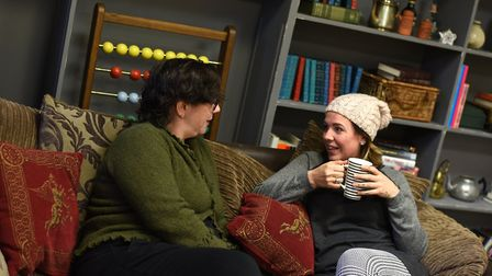 Cat Gosling and Mischa Pearson at The Tea Pot Project in Ipswich.