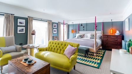 A bedroom at the new-look Swan hotel in Southwold. Picture: James Bedford
