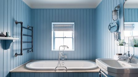 An en suite bathroom at the Swan hotel in Southwold. Picture: James Bedford