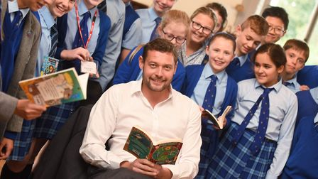 Local childrens author, story-teller and comedian, James Campbell hosted workshops with pupils from