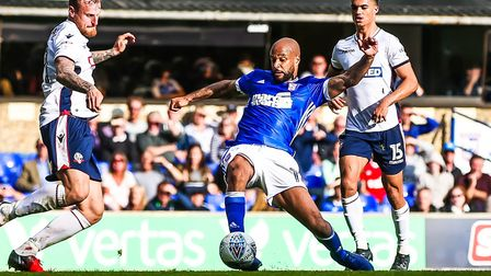 Ipswich Town striker David McGoldrick has been passed fit to face Sheffield United on Saturday. Phot