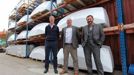 From left, Sean Milbank and Andy Mayne of the Milbank Group and Mark Went of Sui Generis Internation