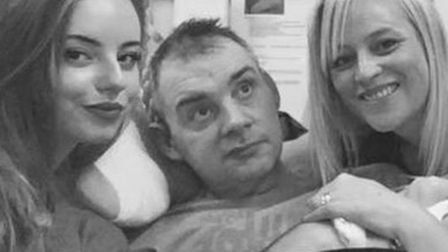 Simon Dobbin, pictured with his daughter, Emily, and wife, Nicole. Picture: PROVIDED BY THE FAMILY