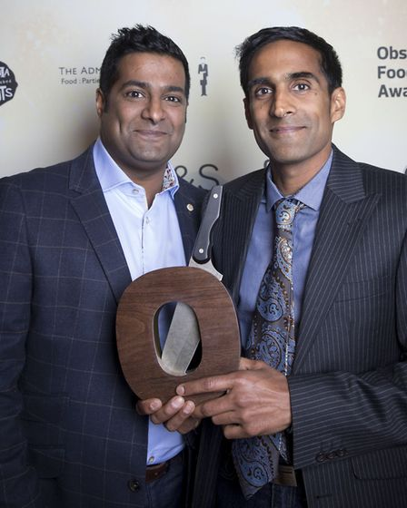 Owners of Rafi's Spicebox, Lee and Kevin Fernandez who won the Best Independent Retailer award at th