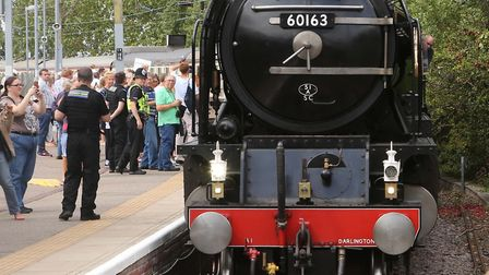 The drone was flying the day the Tornado steam engine was travelling through Essex. Picture: SEANA H