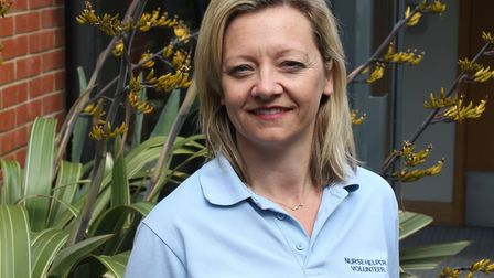 Kirsty Beckwith, a volunteer nurse assistant at St Helena Hospice. Picture: ST HELENA HOSPICE