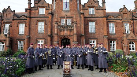 The Parachute Regiment Band got the eighth annual Ipswich School Festival of Music under way. Photo: