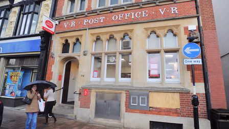 Bury St Edmunds Post Office before it closed last year