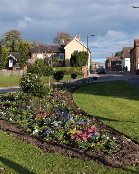 After: The new flower bed at Parkway/St Andrew's Street South. Picture: CAROL STREET