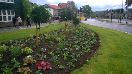 After: The new flower bed at Parkway/St Andrew's Street South. Picture: CONTRIBUTED