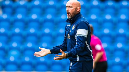 Colchester United head coach John McGreal, buoyed by his team's recent two away clashes at Newport a