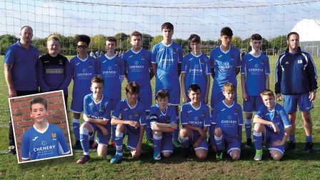 Ipswich Wanderers Under 15s sporting their new kit, sponsored by Chenery Creative. Picture: CHRIS CH