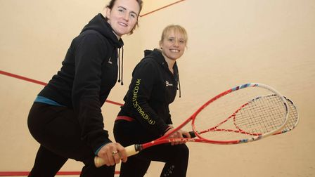 Emily Ison, left, is one of the country's top squash coaches. Picture: NIGEL BROWN