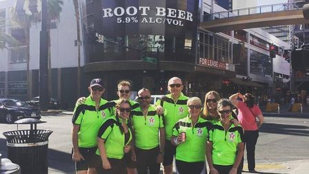 The Colchester cycle team rode 325 miles across America. Picture: CONTRIBUTED