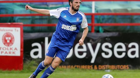 Jonathan Douglas in action for Ipswich Town. Photo: Inphotography