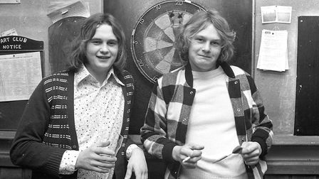 Tony (left) and Martyn Markwell at the Selkirk public house, Ipswich in September 1974. Picture: PA